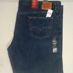 Levi's 505 Regular Fit Jeans Big&Tall 52x34 NWT